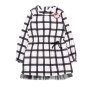 Boboli Black & Cream Check Lined Dress with Tulle Hem (Size 10 Years)