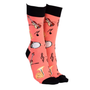 Sock Society Orchestra Socks Peach with Black (One Size Fits Most Adults)
