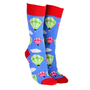 Sock Society Hot Air Balloons Socks Sky Blue & Red (One Size Fits Most Adults)