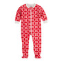 Hatley Red & White Snowflake Fleece Footed Coverall (Size 6-12m Sample)