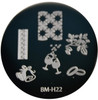 Bundle Monster Image Plate BM-H22: Wedding, Bells, Rings, Champagne