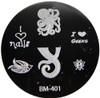 Bundle Monster Image Plate #BM-401: Octopus, Bird, Bee, Words