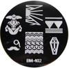 Bundle Monster Image Plate #BM-402: Coffin, Mustache, Full Nail