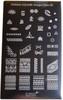 Konad Nail Art Square Image Plate #06: Native, Bows, Feathers, Shapes, Patterns, etc