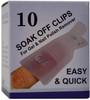 10-Pack Soak Off Clips (Clear) by Berkeley