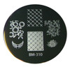 Bundle Monster Image Plate #BM-310: Full Nail, Assorted