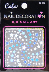 Cala Aqua Blue Stars 3D Nail Decal