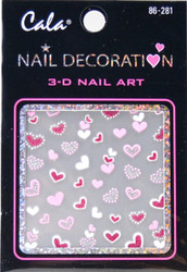 Cala Big Hearts, Little Hearts 3D Nail Decal
