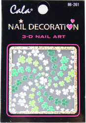 Cala St. Patricks' Clovers 3D Nail Decal