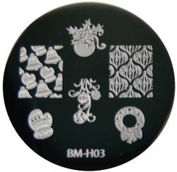 Bundle Monster Image Plate BM-H03: Bell, Glove, Full Nail
