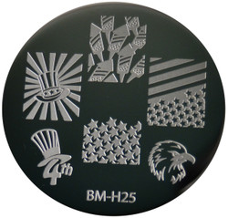 Bundle Monster Image Plate BM-H25: Usa, Animal, 4Th Of July, Full Nail
