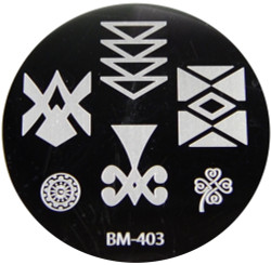 Bundle Monster Image Plate #BM-403: Full Nail, Flower, Wheel