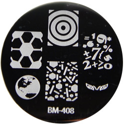 Bundle Monster Image Plate #BM-408: Globe, Eyes, Math, Full Nail