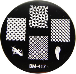 Bundle Monster Image Plate #BM-417: Mantis, Wing, Full Nail