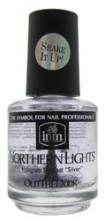 INM Out The Door Hologram Silver Top Coat (0.5 fl. oz. / 15 mL)