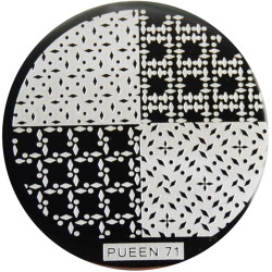 Pueen Image Plate Pueen #71: Assorted, Diamonds, Dots