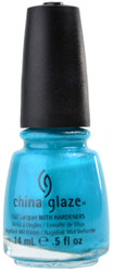 China Glaze Turned Up Turquoise (Neon) nail polish
