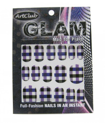 Glam, Mad For Plaid Full Nail Decals by Art Club