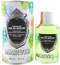 Marvis Strong Mint Mouthwash Concentrated Formula (4.1 fl. oz. / 120 mL)