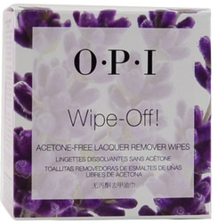 OPI Wipe-Off! 10-pack  Acetone Free Lacquer Remover Wipes