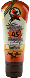 Australian Gold Sheer Coverage Faces Sunscreen Lotion w/ Bronzer SPF 45 (3 fl. oz. / 88 mL)