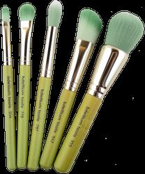 Bdellium Tools 5 pc Green Bamboo Mineral Brush Set