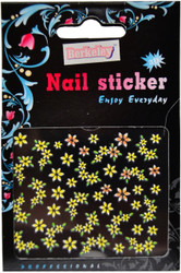 Yellow Flowers 3D Nail Decal by Berkeley