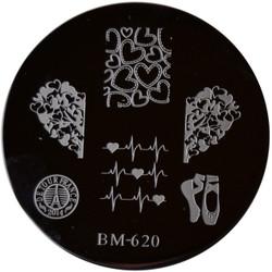 Bundle Monster Image Plate BM-620: Ballet, Hearts, France