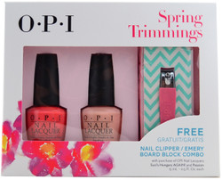 OPI 2 pc Spring Trimmings Set (w/ Nail Clipper & Emery Board Block)