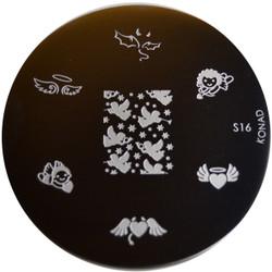 Konad Nail Art Image Plate #S16 (Angels, Cupid, Love)