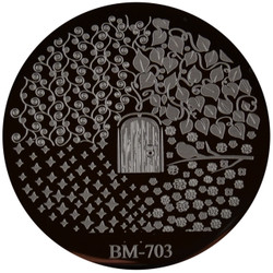 Bundle Monster Image Plate #BM-703: Full Nail, Plants, Door
