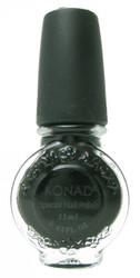 Black (Special Polish) by Konad Nail Stamping