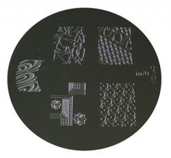 Image Plate #M70 (Full Nail ) by Konad Nail Stamping