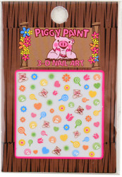 Piggy Paint for Kids Blossom Nail Decal (3-D)