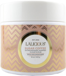 Lalicious Medium Sugar Coffee Extraordinarily Whipped Sugar Scrub (16 oz. / 453 g)