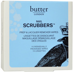 Butter London Nail Scrubbers 10-Pack Prep & Lacquer Remover Wipes