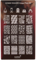 Konad Nail Art Square Image Plate #08: Animals, Dog Paw Prints, etc