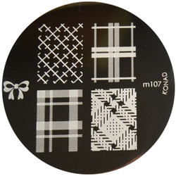 Konad Nail Art Image Plate #M107 (Bow, Patterns)