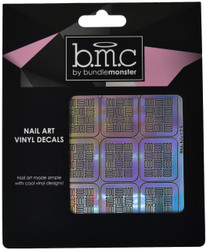Bundle Monster On A Grid Holographic Nail Art Vinyl Decals