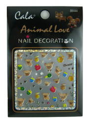 Bear, Honey Pot, Footprints Nail Decal by Cala