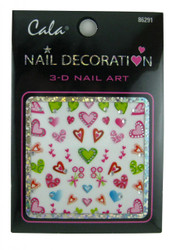 Hearts, Flowers, Bows, Gems Nail Decal by Cala
