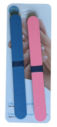 Vitry 10-Pack Wood Backed Nail Files (Blue & Pink)