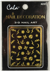 Cala Halloween Gold Glitter 3D Nail Decal