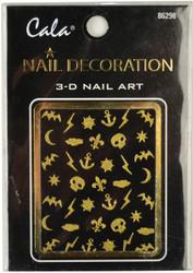 Cala Halloween Gold Glitter 3D Nail Decal