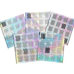 Bundle Monster 5 pc Textile Collection Holographic Nail Art Vinyl Decals Set
