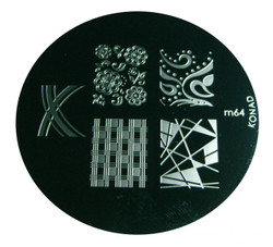 Image Plate #M64 by Konad Stamping Nail Art