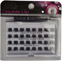 Ardell Lashes Double Up Individuals Knotted Flare Trios Medium Black Ardell Lashes