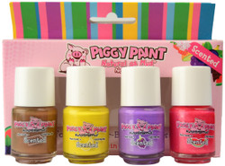 Piggy Paint For Kids 4 pc Scented Polish Mini Set
