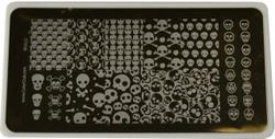 Color Club Image Plate Skulls