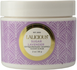 Lalicious Small Sugar Lavender Extraordinary Whipped Sugar Scrub (2 oz. / 56 g)